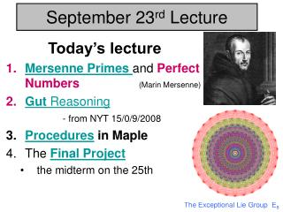 September 23 rd Lecture
