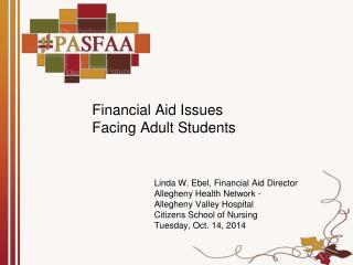 Financial Aid Issues  Facing Adult Students