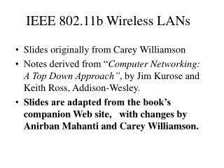IEEE 802.11b Wireless LANs