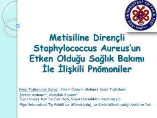 Pınar Taşkıranlar Saraç 1 , Sinem Özsarı 1 , Mehmet Sezai Taşbakan 1 ,