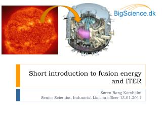 Short introduction to fusion energy and ITER
