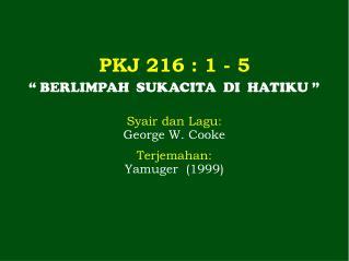 PKJ 216  : 1 -  5