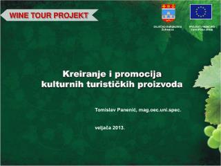 Kreiranje i promocija kulturnih turističkih proizvoda