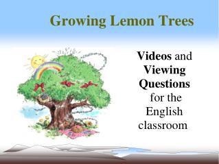 Growing Lemon Trees
