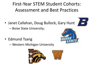 First-Year STEM Student Cohorts: Assessment and Best Practices