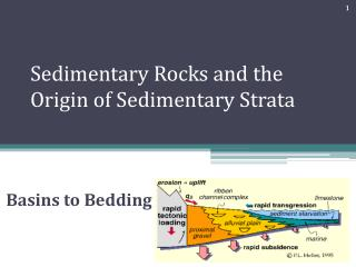 Sedimentary Rocks and the Origin of Sedimentary Strata