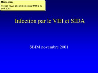Infection par le VIH et SIDA