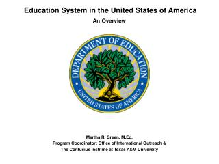 Education System in the United States of America
