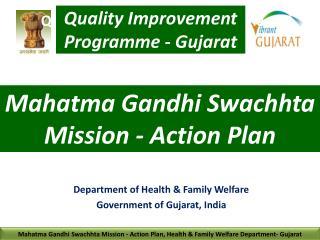 Mahatma Gandhi Swachhta Mission - Action Plan