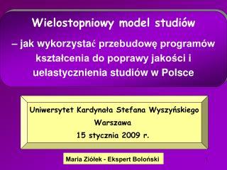 Maria Ziółek - Ekspert Boloński