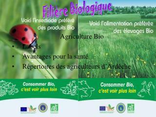 Agriculture Bio Labels Avantages pour la santé Répertoires des agriculteurs d'Ardèche