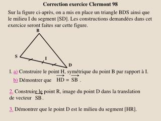 Correction exercice Clermont 98