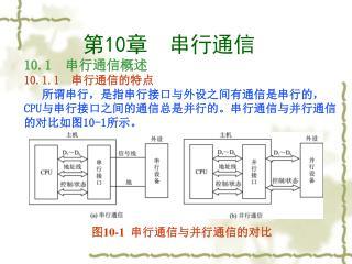 图 10-1 串行通信与并行通信的对比