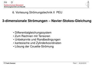 6. Vorlesung Strömungstechnik II PEU