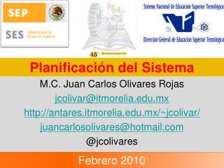 Planificación del Sistema