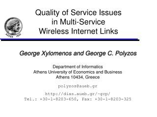 Quality of Service Issues in Multi-Service Wireless Internet Links