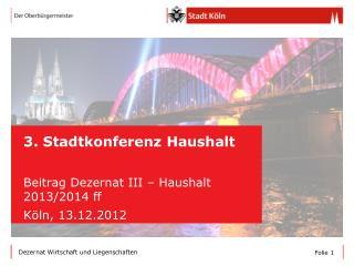 3. Stadtkonferenz Haushalt