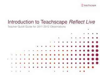 Introduction to Teachscape Reflect Live