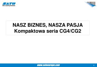 NASZ BIZNES, NASZA PASJA Kompaktowa seria CG4/CG2