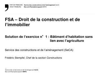 FSA – Droit de la construction et de l'immobilier