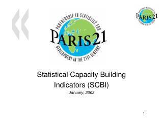 Statistical Capacity Building Indicators (SCBI) January , 2003