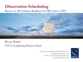 Observation Scheduling