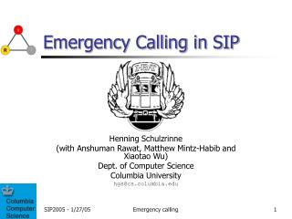 Emergency Calling in SIP
