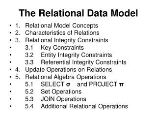 The Relational Data Model