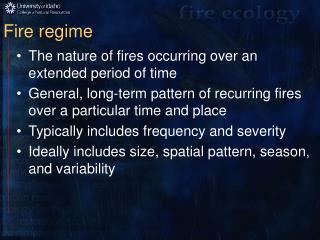 Fire regime