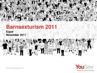 Barnsexturism 2011 Ecpat November 2011