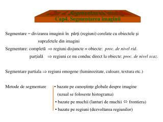 Cap4. Segmentarea imaginii