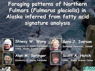 Shiway W. Wang University of Alaska Fairbanks USGS, Alaska Science Center