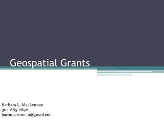 Geospatial Grants
