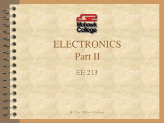 ELECTRONICS Part II