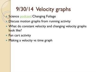 9/30/14 Velocity graphs