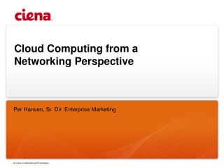 Cloud Computing from a Networking Perspective