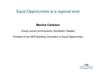 Equal Opportunities at a regional level