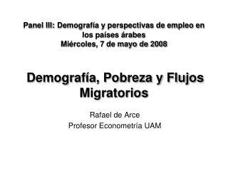 Rafael de Arce Profesor Econometría UAM