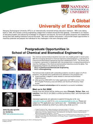 School of Chemical and Biomedical Engineering, N1.2-B3-13, 62 Nanyang Drive Singapore 637459