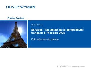 Services : les enjeux de la compétitivité française à l'horizon 2025