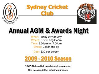 Annual AGM & Awards Night