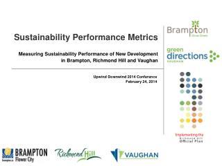 Sustainability Performance Metrics
