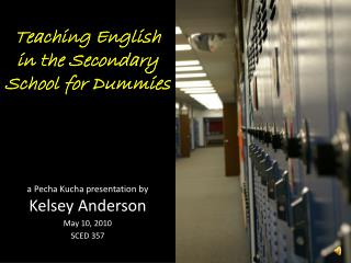 Teaching English in the Secondary  School for Dummies