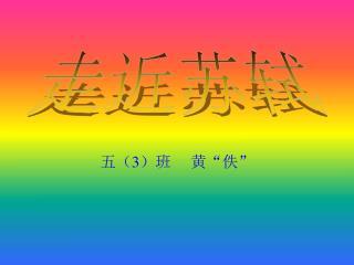 """五( 3 )班 黄""""佚"""""""