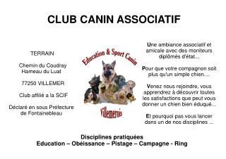 CLUB CANIN ASSOCIATIF