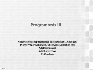 Programozás III.