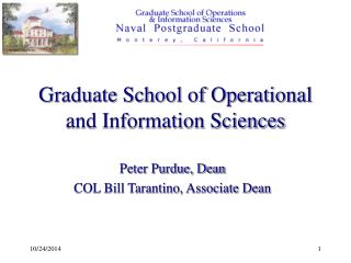 Graduate School of Operational and Information Sciences