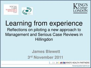 James  Blewett 3 rd  November 2011