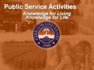 Public Service Activities