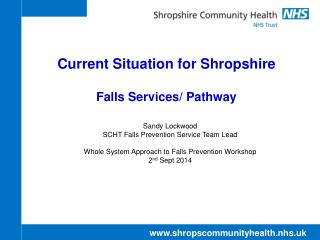Current Situation for Shropshire Falls Services/ Pathway